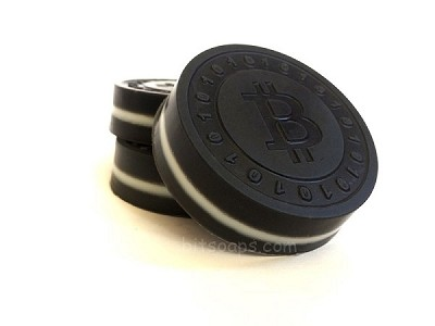 Bitcoin Activated Charcoal Hemp Oil Soap with Spearmint/Eucalyptus
